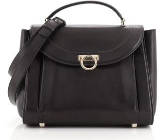 Salvatore Ferragamo Sofia Rainbow Saddle Bag Leather Medium