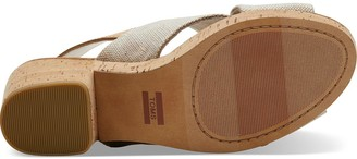 Toms Ibiza Pearlized Chunky Heeled Sandal - Natural
