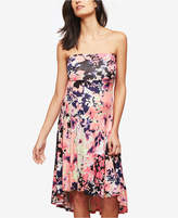 Motherhood Maternity Strapless Floral-Print Dress