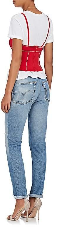 Area Women's Rhinestone-Embellished Jersey Corset Top