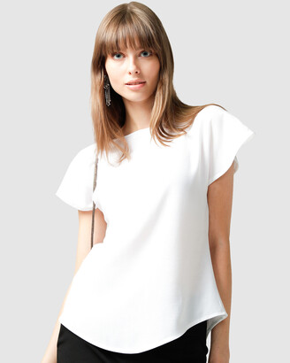 SACHA DRAKE - Women's White Short Sleeve Tops - Analia Top - Size One Size, 8 at The Iconic