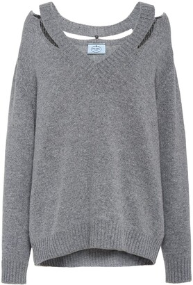 Prada Cut-Out Detailed Jumper