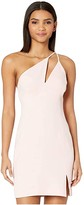 BCBGMAXAZRIA One Shoulder Cut Out Short Cocktail Dress (Soft Petal) Women's Dress