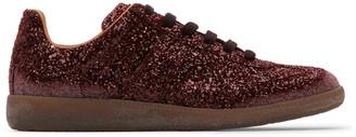 Maison Margiela Red Glitter Replica Sneakers