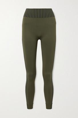 Ernest Leoty Jeanne Striped Stretch Leggings - Army green