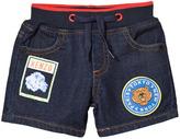 Kenzo Dark Denim Shorts with Patches