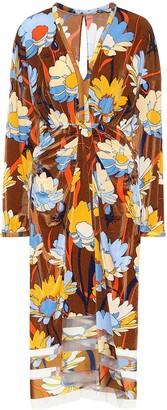 Fendi Floral stretch-jersey midi dress