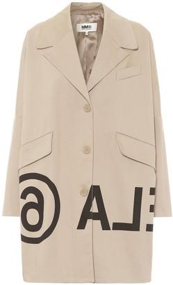 MM6 MAISON MARGIELA Logo cotton-twill coat