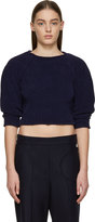 J.W.Anderson Navy Chenille Sweater