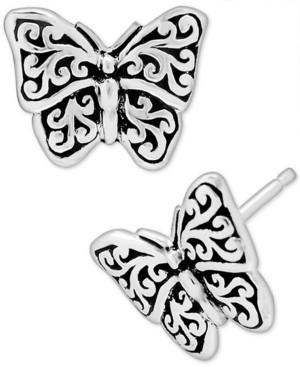 Lois Hill Filigree Butterfly Stud Earrings in Sterling Silver
