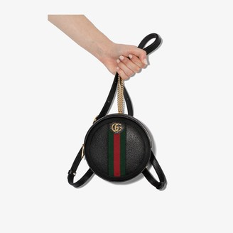 Gucci black Ophidia mini leather backpack