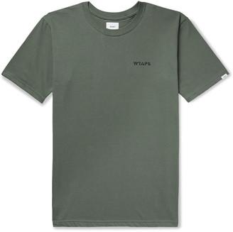 WTAPS Logo-Print Cotton-Jersey T-Shirt