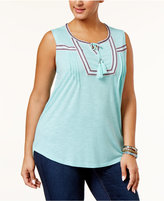 Style&Co. Style & Co Plus Size Peasant Top, Only at Macy's
