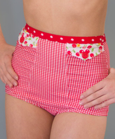 Lucy B Cherry Pie High-Waist Bikini Bottoms