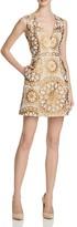 Alice + Olivia Patty V-Neck Lantern Dress