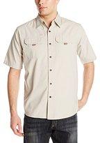 Wrangler Authentics Men's Big & Tall Short Sleeve Canvas Shirt