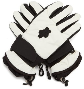 3 Moncler Grenoble - Logo-patch Shell And Leather Gloves - White