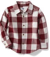 Old Navy Buffalo-Plaid Pocket Shirt for Toddler