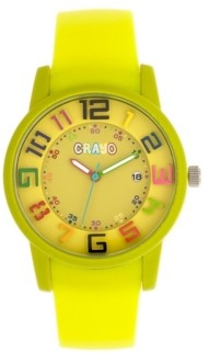 Crayo Unisex Festival Lime Silicone Strap Watch 41mm