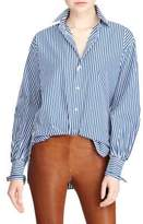 Polo Ralph Lauren Striped Cotton Boyfriend Button-Down Shirt