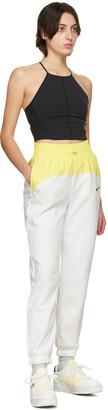 Nike White & Yellow Sportswear Icon Clash Lounge Pants