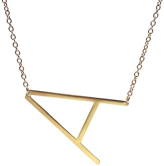 Savvy Cie 14K Gold Plated Initial Necklace (1in) Multiple Letters Available