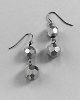 Hematite Faceted Double Drop Earring