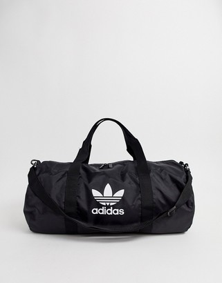 adidas Orginals trefoil logo travel bag in black