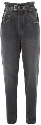 Etoile Isabel Marant Gloria Paperbag-waist Jeans - Black