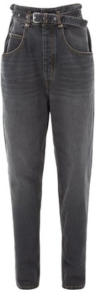 Etoile Isabel Marant Gloria Paperbag-waist Jeans - Womens - Black