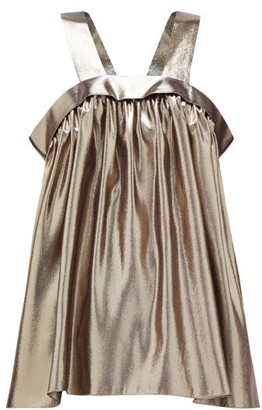 Rochas Metallic-effect Silk-blend Trapeze Top - Silver