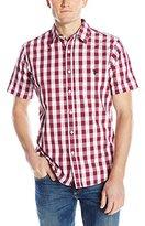 U.S. Polo Assn. Men's Poplin with Dobby Stitch Plaid Sport Shirt