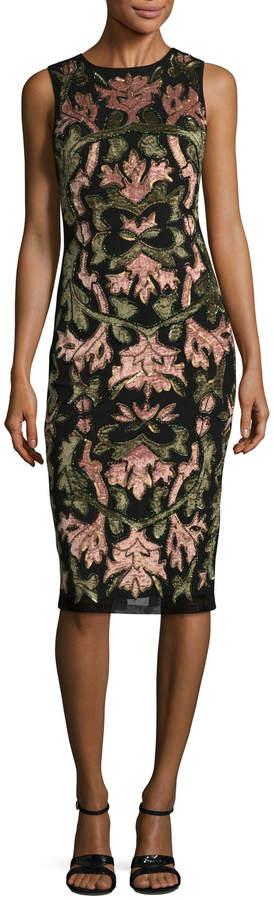 Alice + Olivia Women's Nat Embellished Sheath Dress