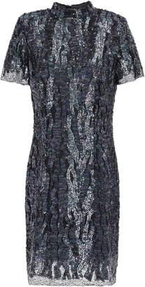 HANEY Syd Sequined Mesh Mini Dress