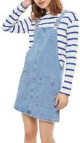 Topshop Women's Denim Pinafore Dress
