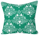 "DENY Designs Christmas Paper Cutting Throw Pillow Teal (20"" x 20"