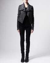 Rick Owens Blistered Leather Trapeze Jacket
