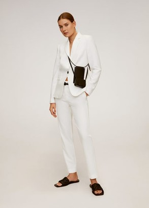 MANGO Essential structured blazer white - 1 - Women