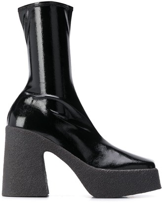 Stella McCartney Square-Toe Platform Boots