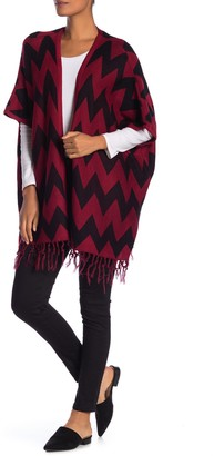 Papillon Oversized Chevron Design Open Front Cardigan