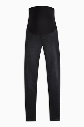 Topshop Womens **Maternity Washed Black Over The Bump Joni Jeans - Washed Black