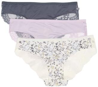 Jessica Simpson Lace Back Bikini Panties - Pack of 3