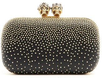 Alexander McQueen Studded Two Ring Clutch Bag