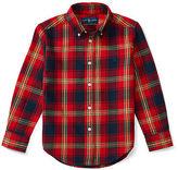 Ralph Lauren Plaid Cotton Twill Sport Shirt