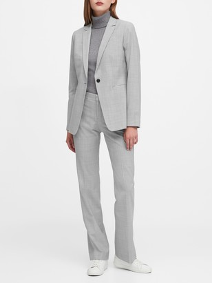 Banana Republic Petite Long and Lean-Fit Washable Wool-Blend Blazer