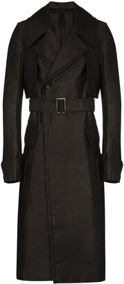 Rick Owens Double-Breasted Trench Coat