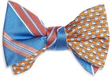 Brooks Brothers Double Sided Stripe/Hat Self Tie Bow Tie