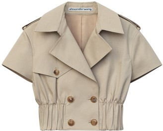 Alexander Wang Cropped Trench Shirt