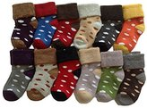 Meso Unisex Baby Toddler 6 Pairs Pack Cashmere Wool Socks Dots Boy 0Y-1Y Random Color