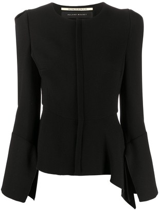 Roland Mouret Ruffle Trim Fitted Jacket